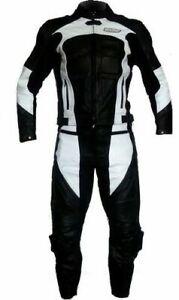 Combinaison en cuir divisible 2 pièces pour moto avec protections veste pantalon