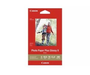 Canon Photo Paper Plus Glossy II PP301 4 x 6 in - 100 Sheets each Lot of 2 NEW