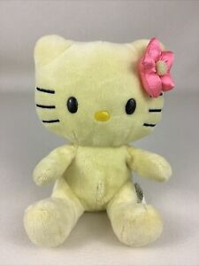 "Hello Kitty Build A Bear Smallfrys 7"" Plush Stuffed Toy Yellow Sanrio 2013 Soft"