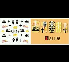 Halloween Nail decals (water decals)  Halloween nail art