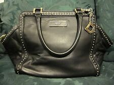 Donna Karan New York black very soft leather studded bag purse handbag
