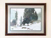 Deborah McAllister ORIGINAL Painting Oil On Canvas Landscape Rare Signed Artwork