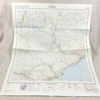 1961 Vintage Militare Mappa Di Helmsdale Scozia Sutherland Scozzese Highlands