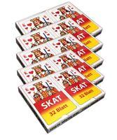 5x Klassische Skatkarten 2x32 Kartendeck Skatspiel Skat Karten Poker Spielkarten