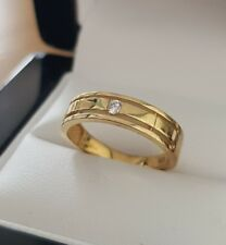 9ct yellow gold created diamond perfect affordable wedding band size J free post