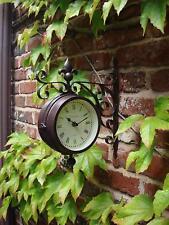 Outdoor Garden Paddington Station Wall Clock 14.5CM Double Sided Outside Bracket