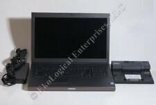 Dell Precision M6800 Laptop i5 4340M 320GB 16GB w/ PR03X Docking Station *MINT*
