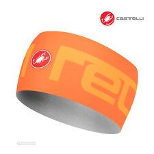 NEW Castelli VIVA2 THERMO Headband Thermal Cycling Head Band : ORANGE
