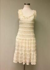 Max Studio Ivory Stretch Lace Dress Sz L