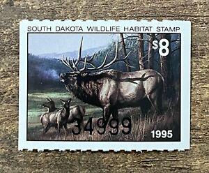 WTDstamps - 1995 SOUTH DAKOTA - State Wildlife Habitat Stamp - Mint OG NH