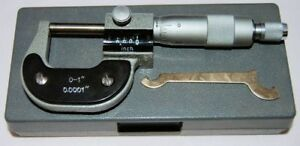 """0-1"""" Imperial Engineers Mechanical Digital Micrometer with Carbide Faces"""