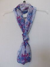 Collection 18 Infinity loop scarf,abstract floral print, orchid, blues ($24) NWT