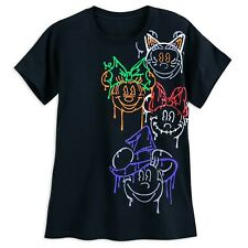 Minnie Mouse Halloween T-Shirt Ladies M Day-glo Glow in the Dark Flourescent Nwt