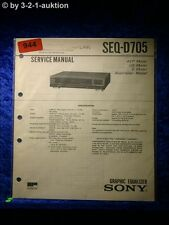 Sony Service Manual SEQ D705 Graphic Equalizer  (#0944)