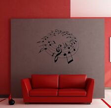 Wall Stickers Vinyl Decal Music Notes Modern Style Decor z1222
