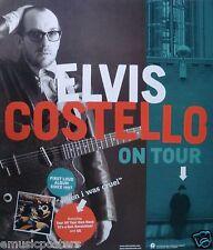"Elvis Costello ""When I Was Cruel - On Tour"" U.S. Promo Poster - Alt Music Legend"