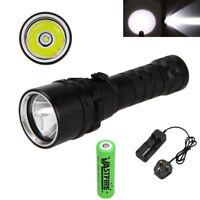 10000LM L2 LED Diving Scuba 18650 Flashlight Torch Lamp Light Waterproof 100m
