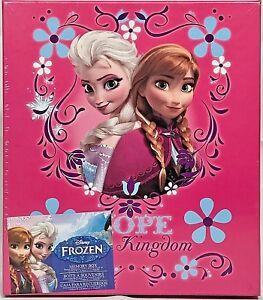 Disney FROZEN ELSA ANNA PINK HOPE KINGDOM MEMORY KEEPSAKE BOX Photos CD DVD RARE