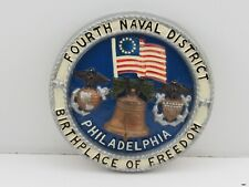Vintage FOURTH NAVAL DISTRICT Philadelphia Hand Painted Plate : U.S. NAVY