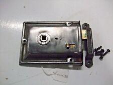Original victorian rim lock with keep & screws  lock~38