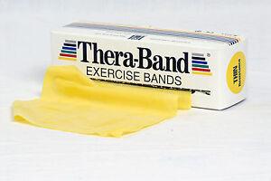 Original Thera-Band Übungsband   5,50 m gelb dünn   Widerstandsband Fitness-band