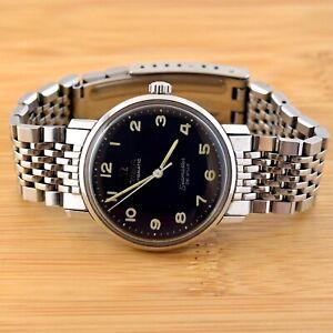 Omega 165.020 Seamaster De Ville Rare Black Dial