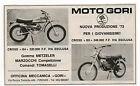 Pubblicità 1973 MOTO GORI CROSS FIRENZE MOTOR advert werbung publicitè reklame