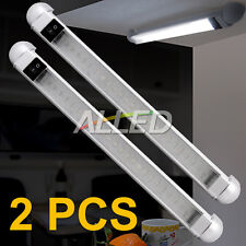 2X 12V Cool White 298MM LED Swivel Lamp Boat/Strip/Car/Trailer/Cabinet/Bar Light