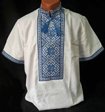 Tradition Ukrainian Embroidered Shirt men National Cross stitch XS, S, M, L XL