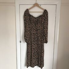 Leopard Print Milkmaid Split Midi Dress Missguided 8