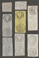 MX-4 Cinderella revenue stamp France Mix faults possible see Shipping note