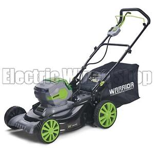 Warrior Eco Power Equipment 60v Battery Operated Cordless Lawnmower