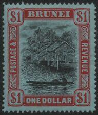 More details for brunei-1912 $1 black & red/blue sg 46 mounted mint v39710