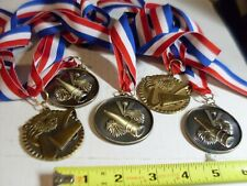 Cheerleading award Ribbons and Medals set of 5