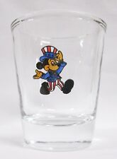 Mic key Mouse Patriotic Image on Clear Shot Glass