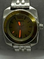 Fossil WB1043 Men's Watch Stainless Steel Bracelet Analog Yellow Dial 37mm D472