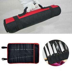 22 Pocket Chef Knife Wallet Bag Knifes Roll Carry Case Handle Portable Storage