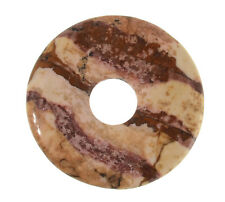 LANDSCHAFTSJASPIS Donut 30mm Anhänger / JASPER PICTURE Donut DO958