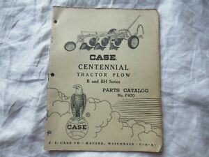 Case B BH tractor plow parts catalog manual book