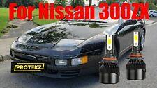 Led For 300zx 1990 1996 Headlight Kit 9006 Hb4 6000k White Cree Bulbs Low Beam