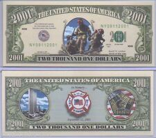 Commemorative US FDNY with Protector NY Fire Department 9/11/01 In Memory WTC