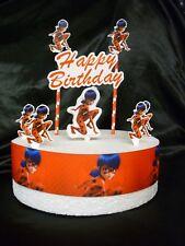 CAKE topper Figura Decorazione Compleanno-LADYBUG-Set di decorazione