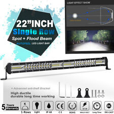 "Single Row 22""Inch 416W LED Work Light Bar Flood Spot Beam Offroad Truck UTV 23"""