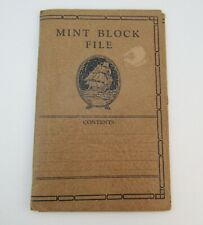 Vintage Mint Block File - for plate blocks and other blocks of stamps