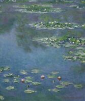 Water Lilies Claude Monet Fine Art Painting Print on Canvas Giclee Reproduction