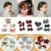 Baby Girl Kids Infant Cloth Bowknot Bow Hair Clip Hair Bow Clips Hair Pins New