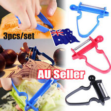 HOt 2018 Magic Trio Peelers 3Pcs Shredder Peeler Julienne Vegetable Fruit Cutter