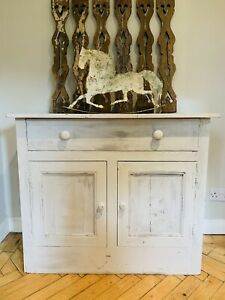 Vintage Painted  French Serving Cupboard