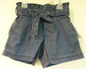 NWT Gap Kids Blue Paperbag Shorts Girl's Size 10