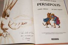 ALIX VOYAGES PERSEPOLIS DESSIN DEDICACE  HERVAN JACQUES MARTIN BD ANTIQUITE 2003